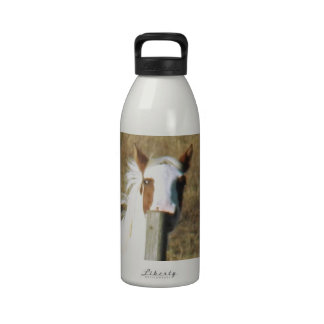 Patches Peeking by Leslie Peppers Reusable Water Bottles