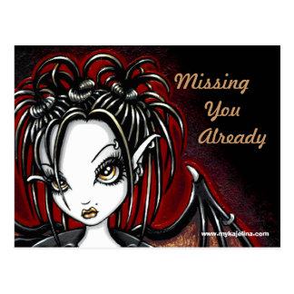 Patchouli Gothic Faery Fantasy Postcard
