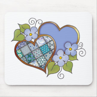 Patchwork 09 Tropical Sky Blue Mouse Pad