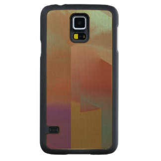 Patchwork Abstract Carved® Maple Galaxy S5 Slim Case