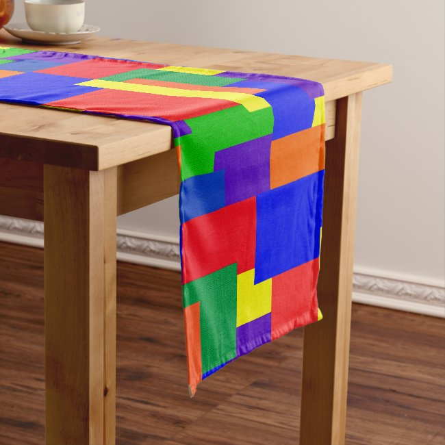 Patchwork Abstract Design RainbowTable Runner