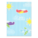 Patchwork Airplanes 5x7 Paper Invitation Card