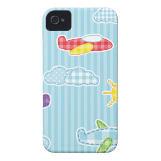 Patchwork Airplanes iPhone 4 Cover