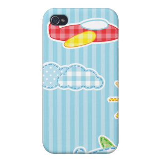 Patchwork Airplanes iPhone 4/4S Covers
