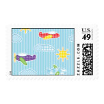 Patchwork Airplanes Postage