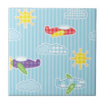 Patchwork Airplanes Tiles