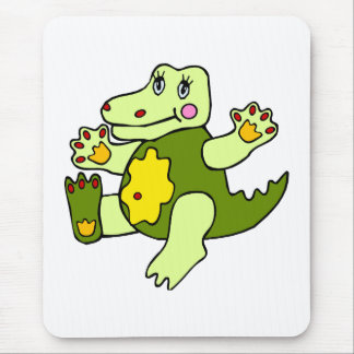 Patchwork Aligator Mouse Pad