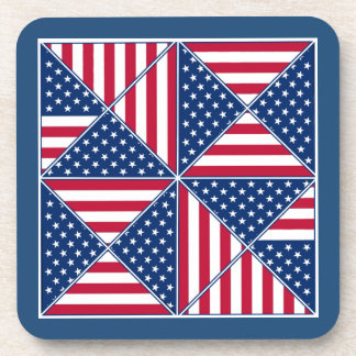 Patchwork American Flag Inspired Coaster