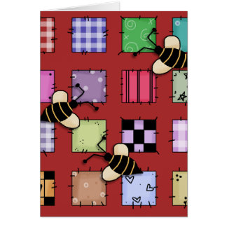 Patchwork and Bumble Bees Card