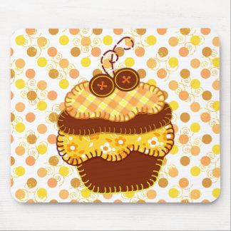 Patchwork Applique Sunshine Cupcakes Mouse Pad