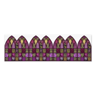 Patchwork Arch in Raspberry and Purple Photo Print