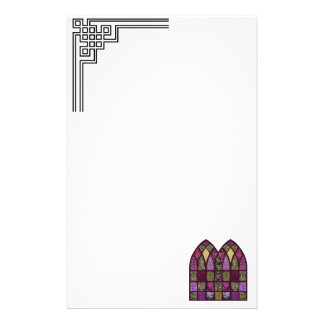 Patchwork Arch in Raspberry and Purple Stationery