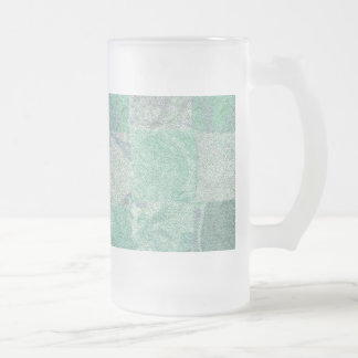 Patchwork Background Frosted Glass Mug