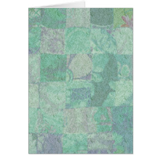 Patchwork Background Greeting Card