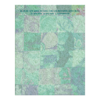 Patchwork Background Stationery Letterhead Design