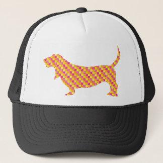 Patchwork Basset Trucker Hat