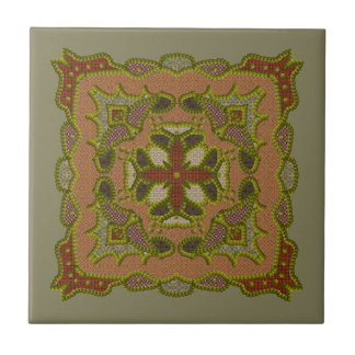 Patchwork Beaded Motif Tile