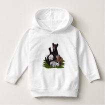 Patchwork Bear Family Hoodie