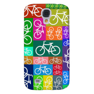 Patchwork Bicycles Art Galaxy S4 Case