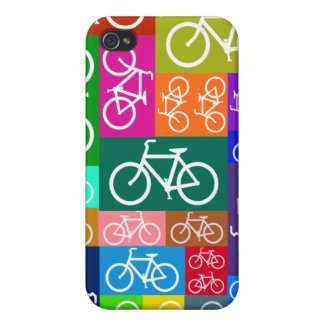 Patchwork Bicycles Art iPhone 4 Case