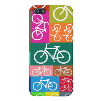 Patchwork Bicycles Art iPhone SE/5/5s Cover