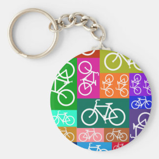Patchwork Bicycles Art Keychains