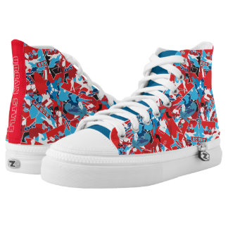 Patchwork bright pattern. Urban bright style High-Top Sneakers