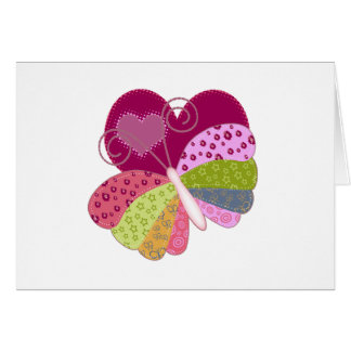 Patchwork Butterfly Heart Cards