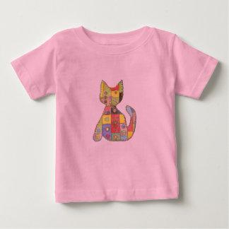 Patchwork Cat pink t-Shirt
