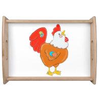 Patchwork Chicken Serving Tray