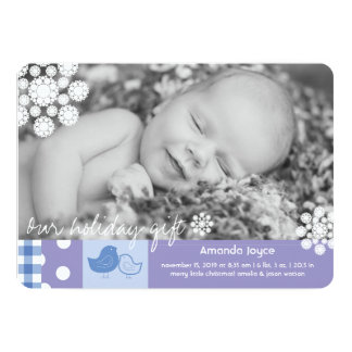 Patchwork Chicks Lace Cute Birth Announcement