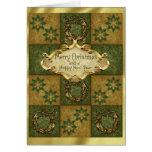 Patchwork Christmas Greeting Card