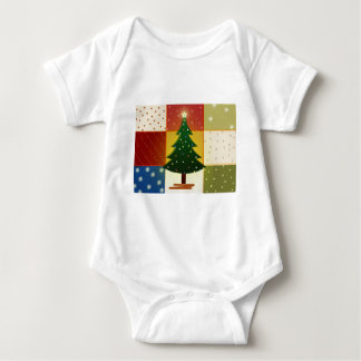 Patchwork Christmas tree Baby Bodysuit
