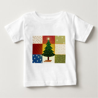 Patchwork Christmas tree Baby T-Shirt