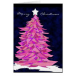Patchwork Christmas Tree in Pink Cards
