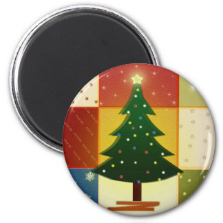 Patchwork Christmas tree Magnet