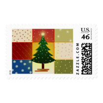 Patchwork Christmas tree Stamps