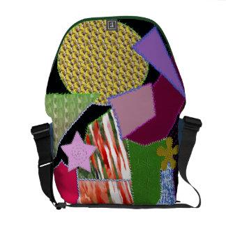 patchwork cloth courier bag