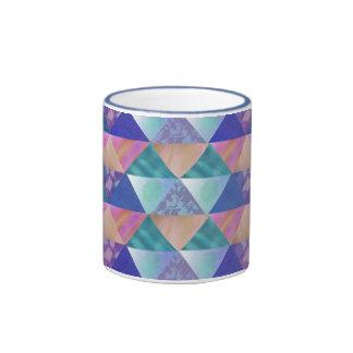 Patchwork Colors Ringer Coffee Mug