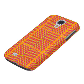 Patchwork composition orange yellow galaxy s4 cover