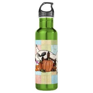 Patchwork Corgi 24oz Water Bottle