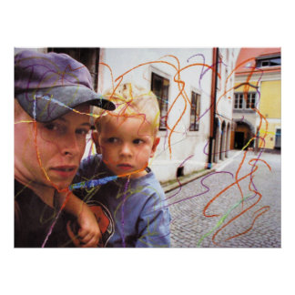 Patchwork Cym and Nano in Freistadt Austria Poster