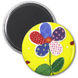 Patchwork Daisy magnet