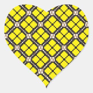 Patchwork Design 7 Heart Sticker