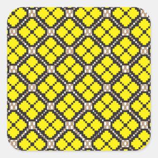 Patchwork Design 7 Square Sticker
