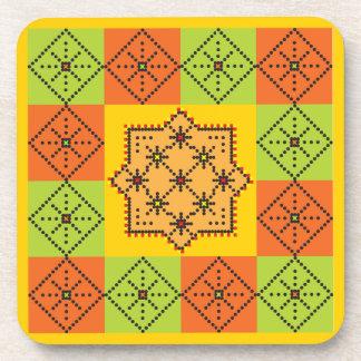 Patchwork Design 8 Coasters