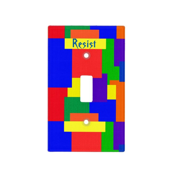 Patchwork Design Rainbow Resist Light Switch Cover