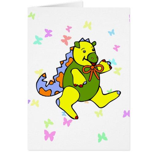 Patchwork Dinosaur Greeting Card