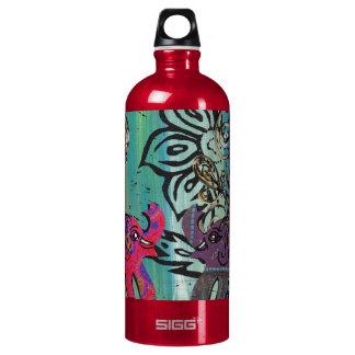 Patchwork Elephants Water Bottle
