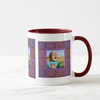 Patchwork Enthusiast Photo Frame Mug